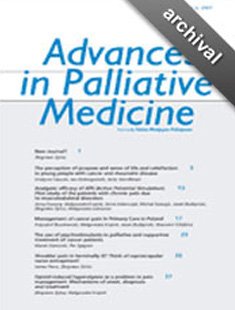 ADVANCES IN PALLIATIVE MEDICINE