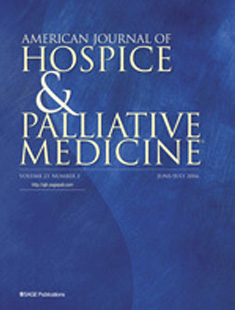 AMERICAN JOURNAL OF HOSPICE AND PALLIATIVE MEDICINE