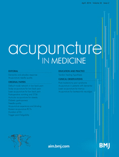 ACUPUNCTURE IN MEDICINE