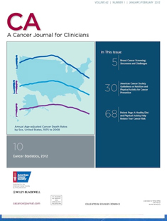 CA: A CANCER JOURNAL FOR CLINICIANS